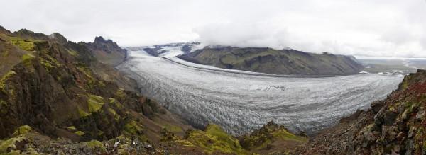 langue glacière à Skaftafell (Islande)
