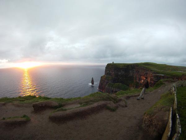 Sunset sur les Cliff de Moher