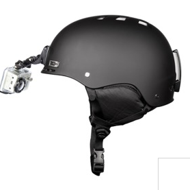 fixation casque gopro profil