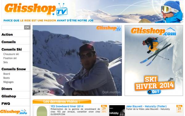 Glisshop TV sur le ski