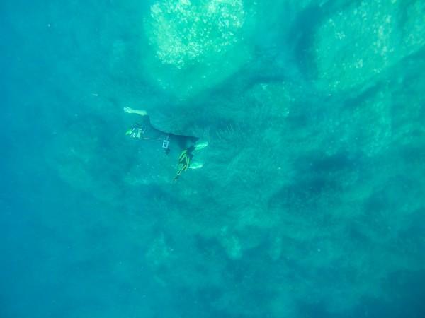 photo sous marine apnée meditéranée go pro black