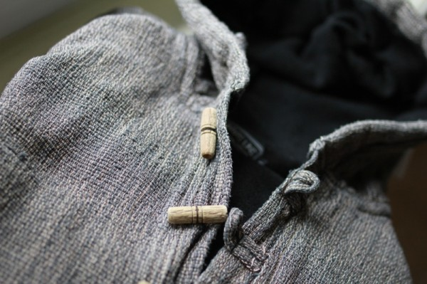 Un pull à capuche vu de l'extérieur