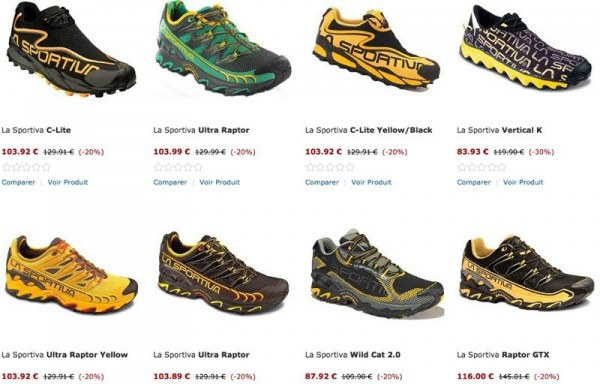 Gamme chaussures Lasportiva