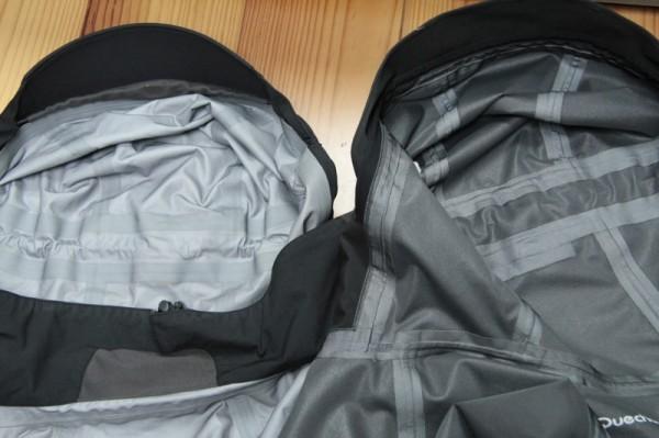 Voici des exemples de vestes membranées