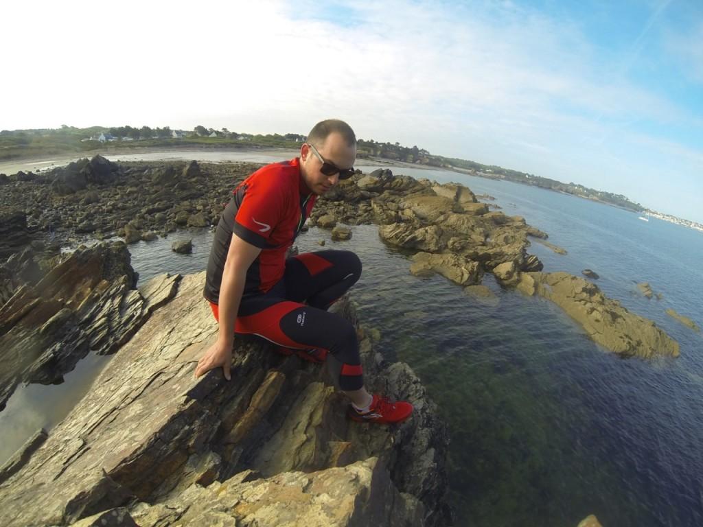 Un break en haut du rocher avant de rentrer