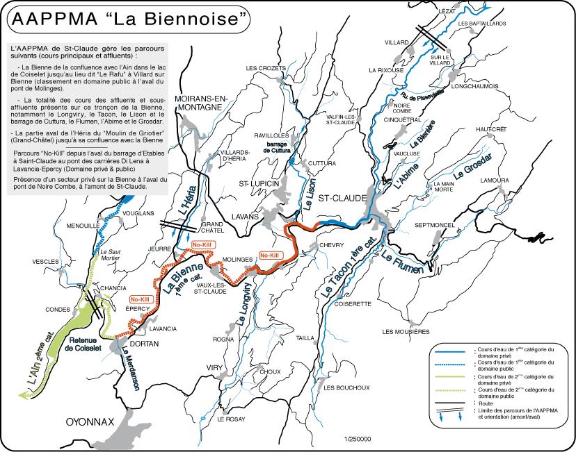 Parcours Bienne Vaux les Saint Claude