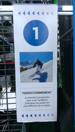 Niveau débutant en ski
