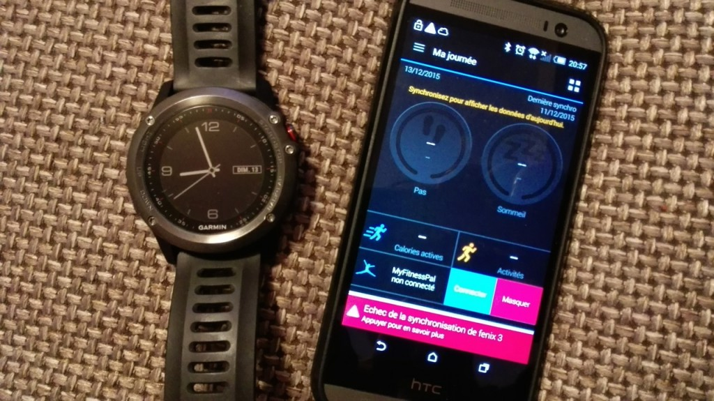 Synchronisation bluetooth défaillante Garmin