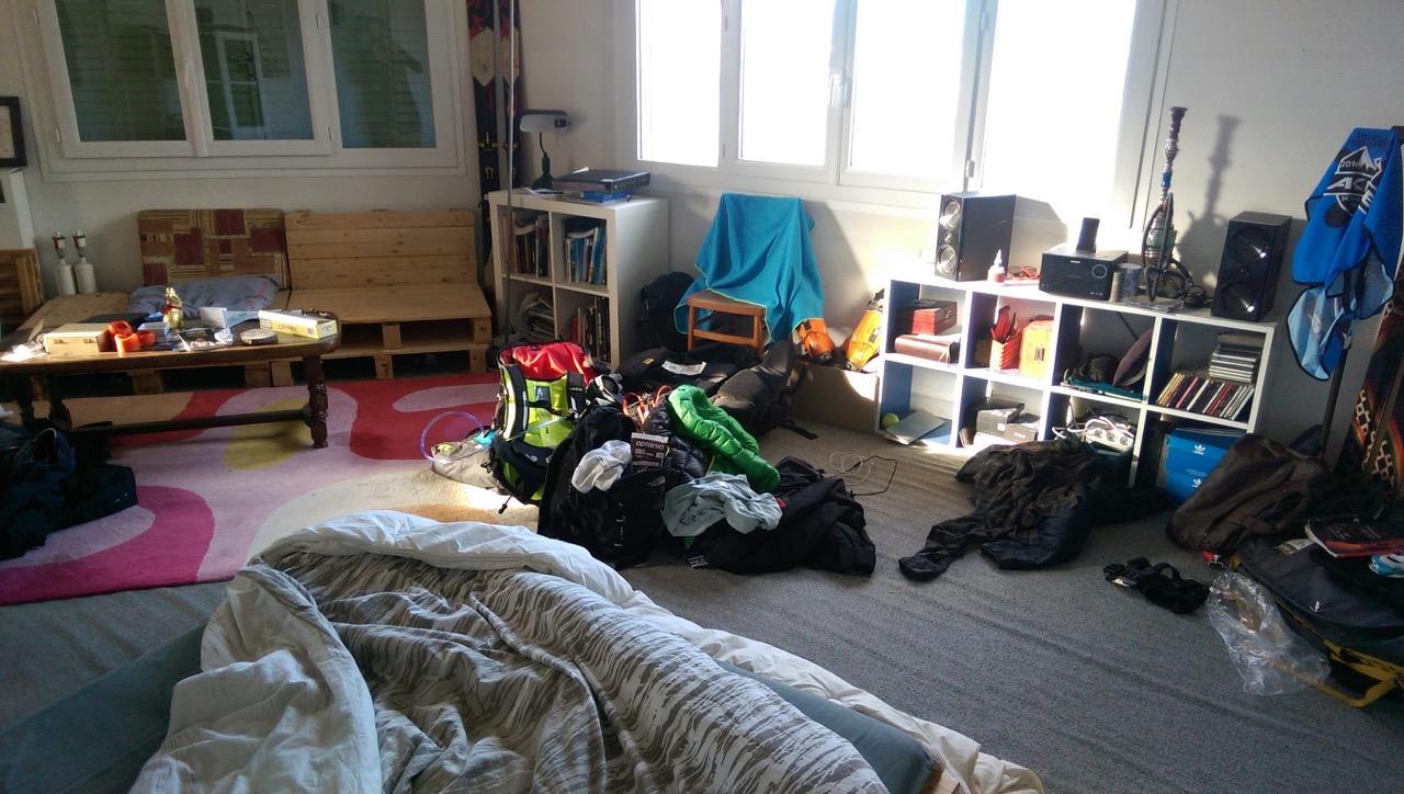 Notre chambre chez Denis à Grenoble