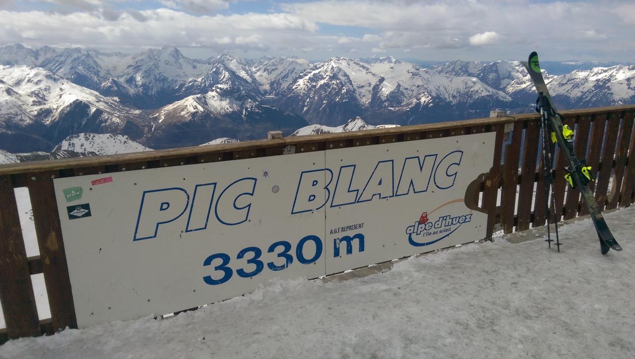 Sur les sommets de l'Alpe d'Huez rien que pour nous en fin de saison