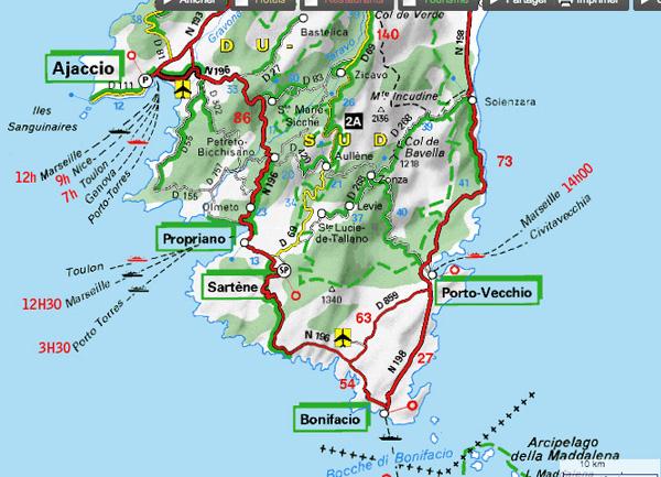 Corse du sud tourisme