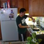 Todd nous prépare son breakfast