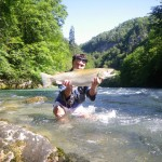 Zanella pêche quand il fait beau.