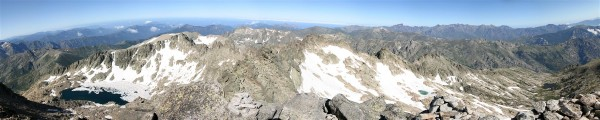 vue panoramique au sommet du Monte Rotondo (Corse)