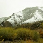 La neige au reveil en Mongolie
