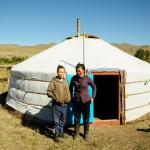 Hutte en Mongolie