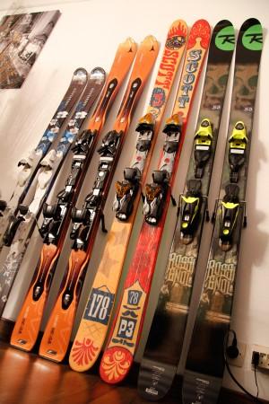 les différents éléments d'un ski