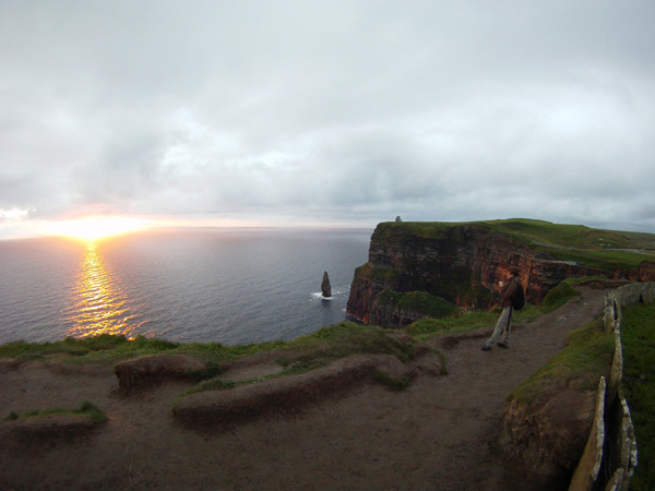 Sunset sur les Cliff de Moher