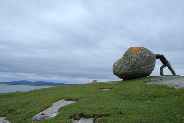 Un gros cailloux à coté de Roundstone