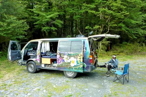 Damien Brouste Van trip Nouvelle Zélande