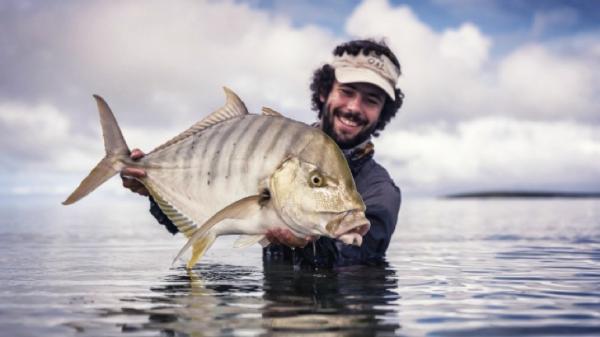 Damien brouste pêche en mer