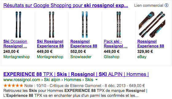 Comparatif google