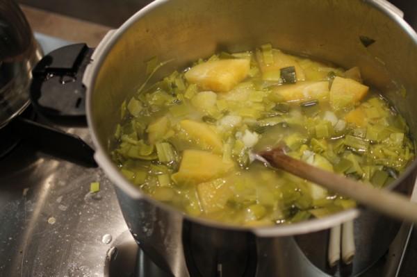Légumes cuits avant de les mouliner