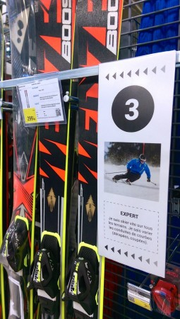 Le niveau expert en ski