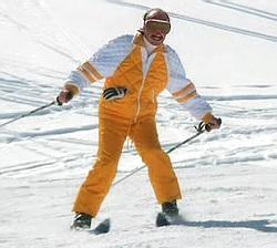 JC Duss fait du ski