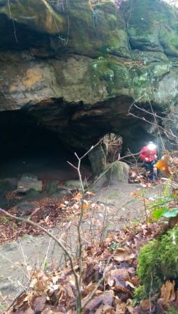Sortie de la caverne de Hohllay