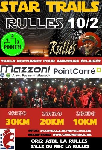 affiche star trails Belgique